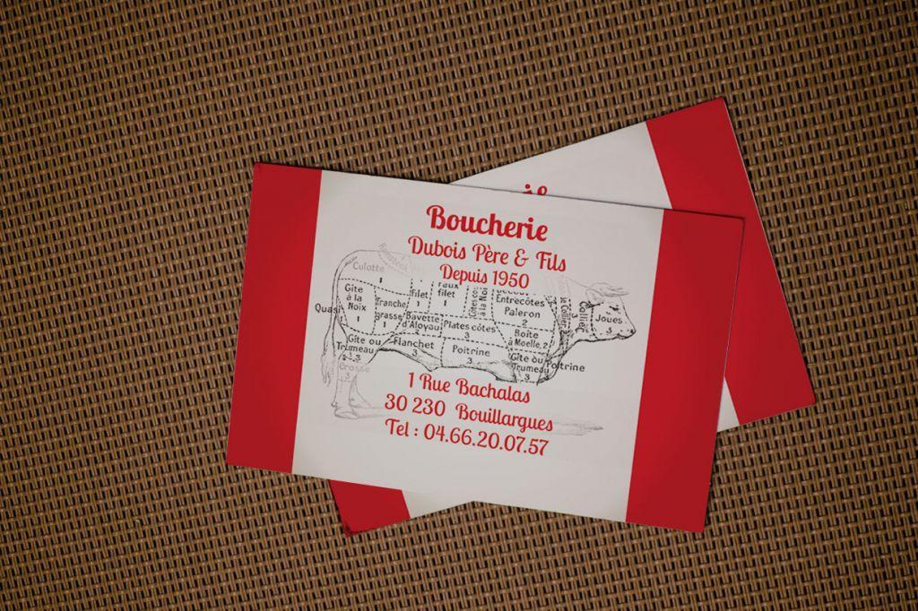 Boucherie Dubois carte de visite