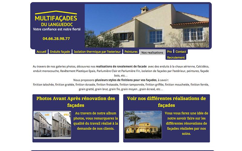 Multi façades du Languedoc
