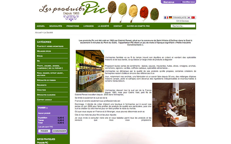 Produits PIC